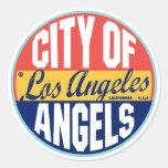 Los Angeles Vintage Label Round Sticker