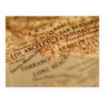 LOS ANGELES Vintage Map Postcards