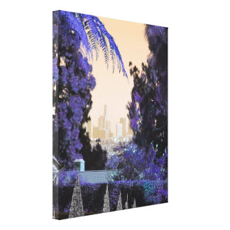 Los Angeles Vintage Style Decorative Photo Gifts Stretched Canvas Prints