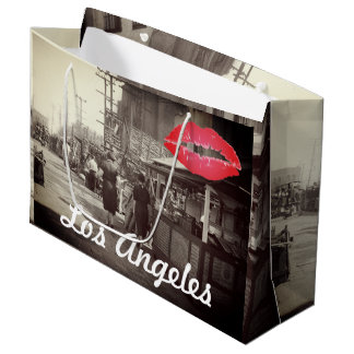 Los Angles California 1935 Olivera Street Photo Large Gift Bag