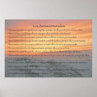 Los Bienaventurados (Version Horizontal) Print