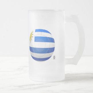 Los Charrúas - Uruguay 2010 Football Frosted Glass Mug