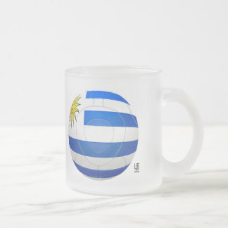 Los Charrúas - Uruguay 2010 Football Frosted Glass Mug