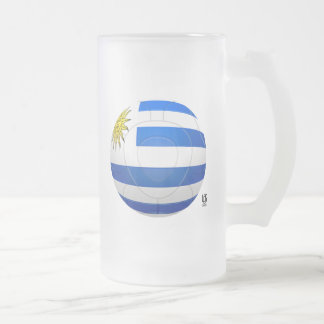 Los Charrúas - Uruguay Football Frosted Glass Mug
