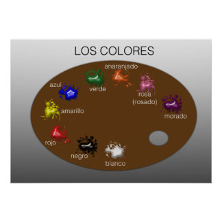 Los Colores (The Colors) Poster