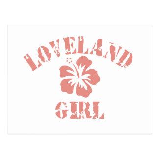 Los Gatos Pink Girl Postcards