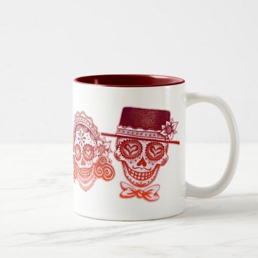 Los Novios - Dia de los Muertos Drinkware Mugs
