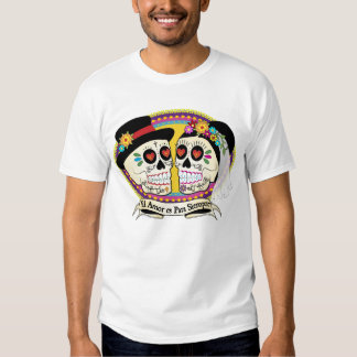 Los Novios Sugar Skull Mens Shirt (Spanish)
