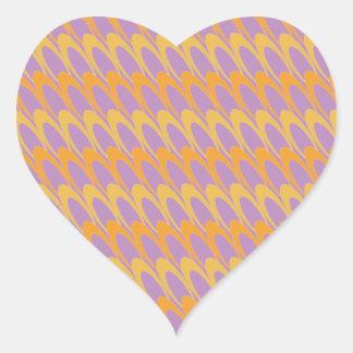 Los Ovals (orange/purple) Heart Sticker