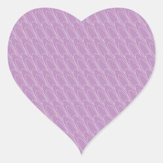 Los Ovals (purple) Heart Sticker