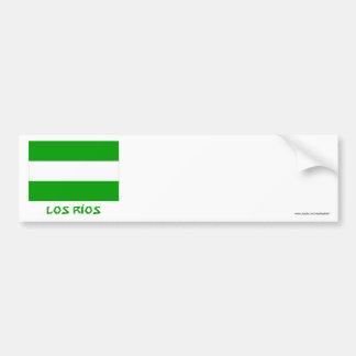 Los Ríos flag with Name Bumper Sticker