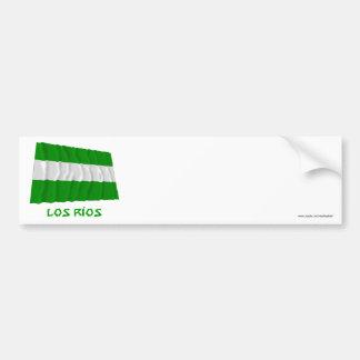 Los Ríos waving flag with Name Bumper Sticker