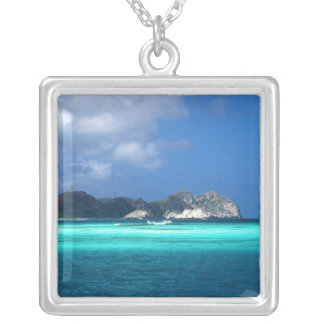 Los Roques Islands, Venezuela Silver Plated Necklace