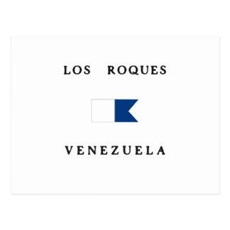 Los Roques Venezuela Alpha Dive Flag Postcard