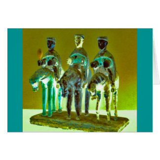 """Los Tres Reyes #4"" Greeting Card"