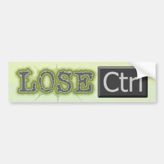 Lose Ctrl Bumper Stickers
