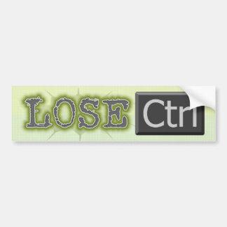 Lose Ctrl Bumper Stickers