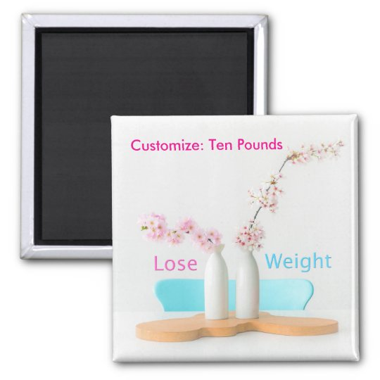 Lose Weight Diet Goals Flowers Magnet
