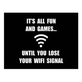 Lose Your WiFi Postcard