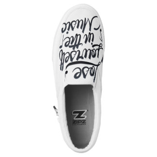 Lose Yourself in the Music Zipz Slip On Shoes Printed Shoes