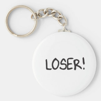 loser basic round button key ring