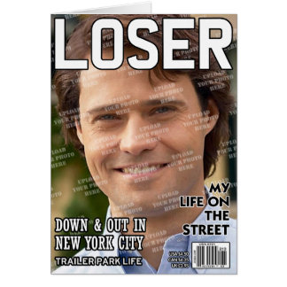 Loser Personalised Magazine Cover Card