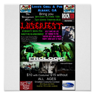 Loserfest Concert Poster