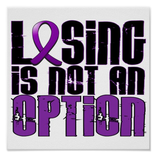 Losing Is Not An Option Crohn's Disease Posters