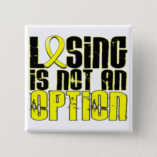 Losing Is Not An Option Endometriosis 15 Cm Square Badge