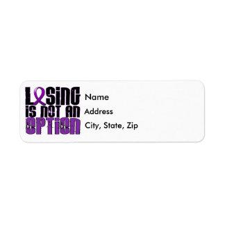 Losing Is Not An Option Fibromyalgia Return Address Label