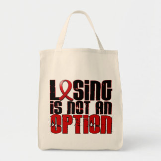 Losing Is Not An Option Heart Disease Tote Bags