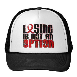 Losing Is Not An Option Heart Disease Mesh Hat