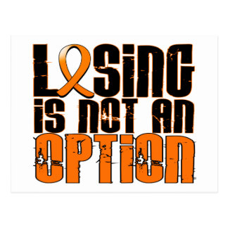 Losing Is Not An Option Kidney Cancer Postcard