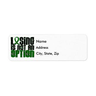 Losing Is Not An Option Liver Disease Return Address Label