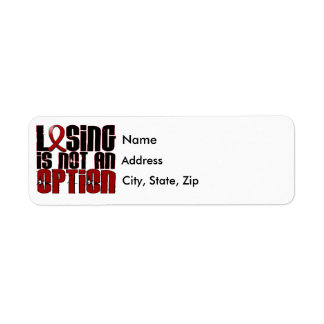 Losing Is Not An Option Multiple Myeloma Return Address Label