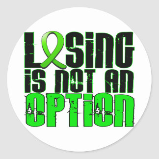 Losing Is Not An Option Non-Hodgkin's Lymphoma Round Sticker