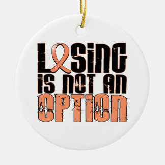 Losing Is Not An Option Uterine Cancer Double-Sided Ceramic Round Christmas Ornament