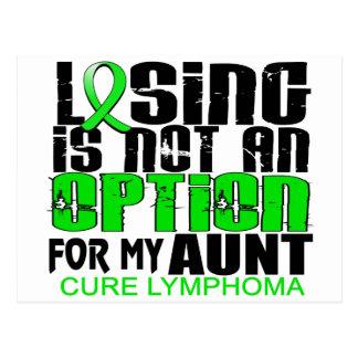 Losing Not Option Lymphoma Aunt Postcard