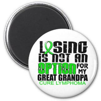 Losing Not Option Lymphoma Great Grandpa Magnets