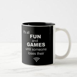 Losing WiFi Internet Coffee Mug - Black