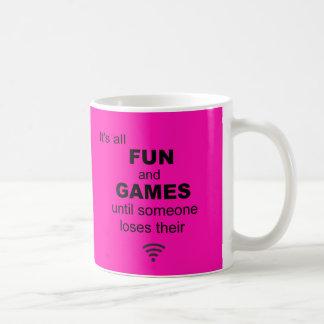 Losing WiFi Internet Coffee Mug - Bright Pink