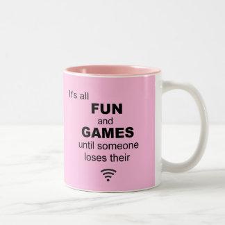 Losing WiFi Internet Coffee Mug - Light Pink