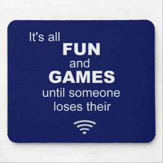 Losing WiFi Internet Mouse Mat - Blue