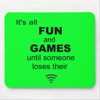 Losing WiFi Internet Mouse Mat - Bright Green