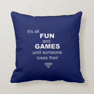 Losing WiFi Internet Pillow - Blue
