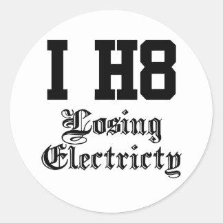 losingelectricity round sticker