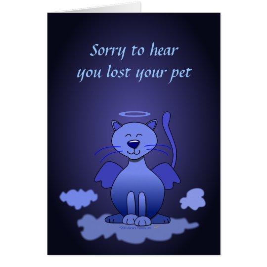 Loss of Cat Pet Sympathy Kitty Heaven Card