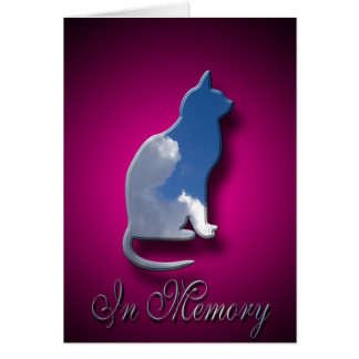Loss Of Cat Sympathy Card