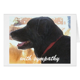 Loss of Dog - Pet Sympathy Note Card