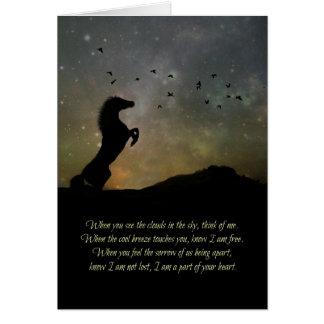 Loss of Horse Sympathy Card